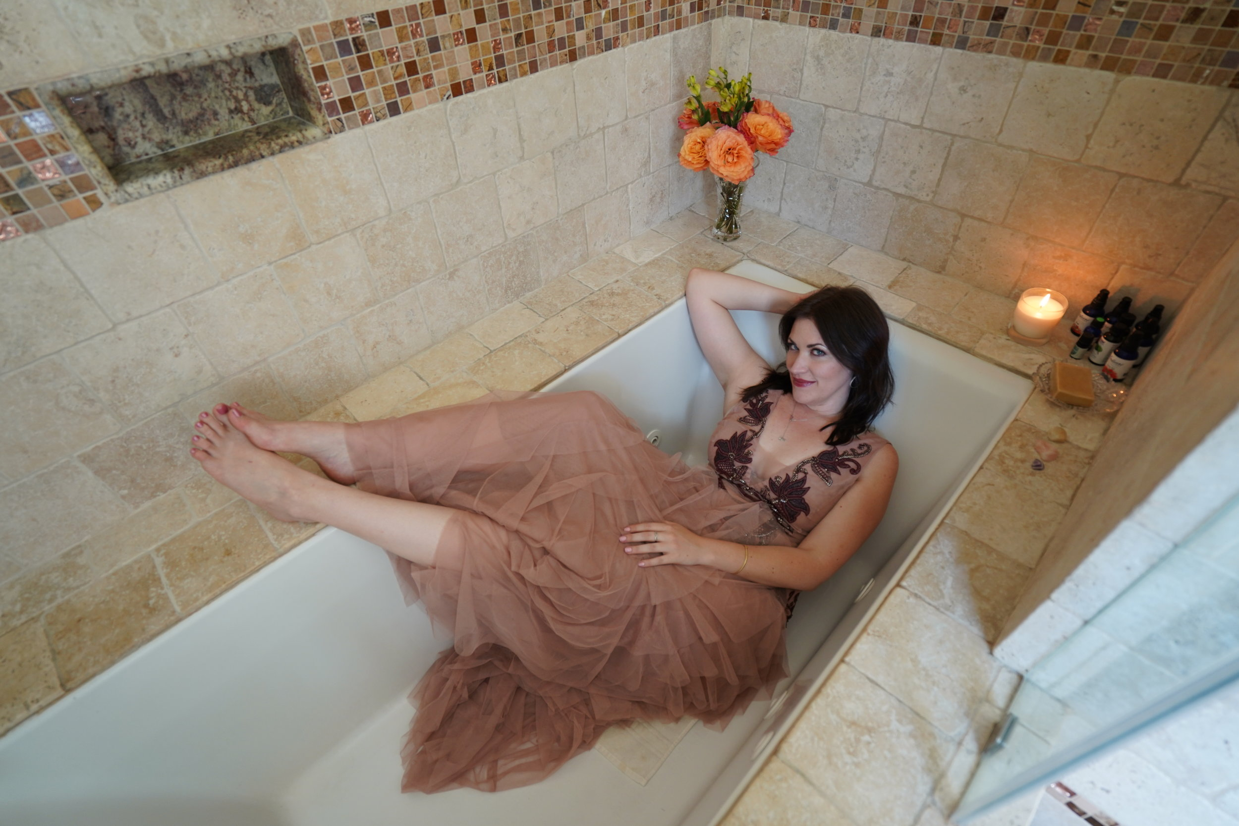 Photo by Megan Wintory  Hair by Andrea Jaclyn / Bomane Salon  Dress by BCBGMAXAZRIA