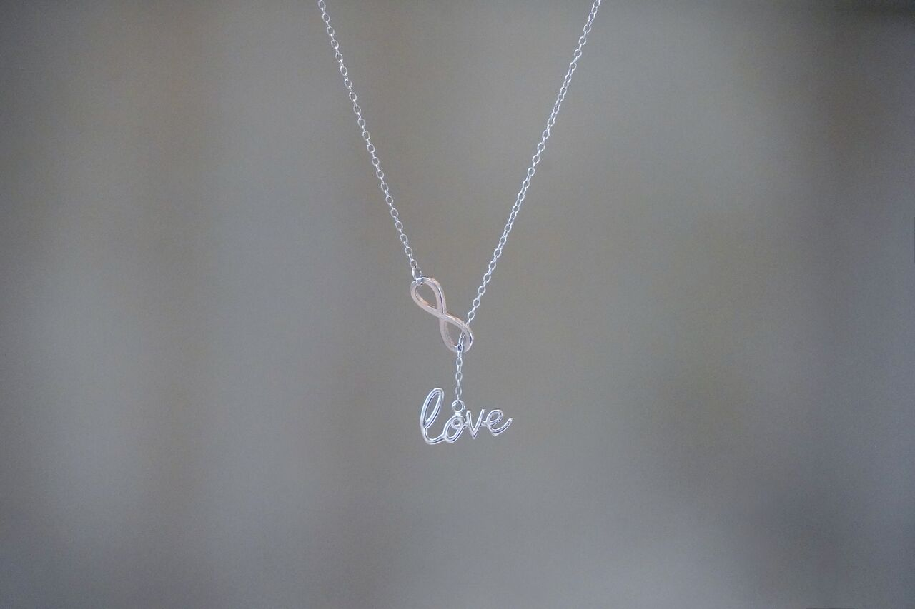 Love + Infinity Lariat Necklace