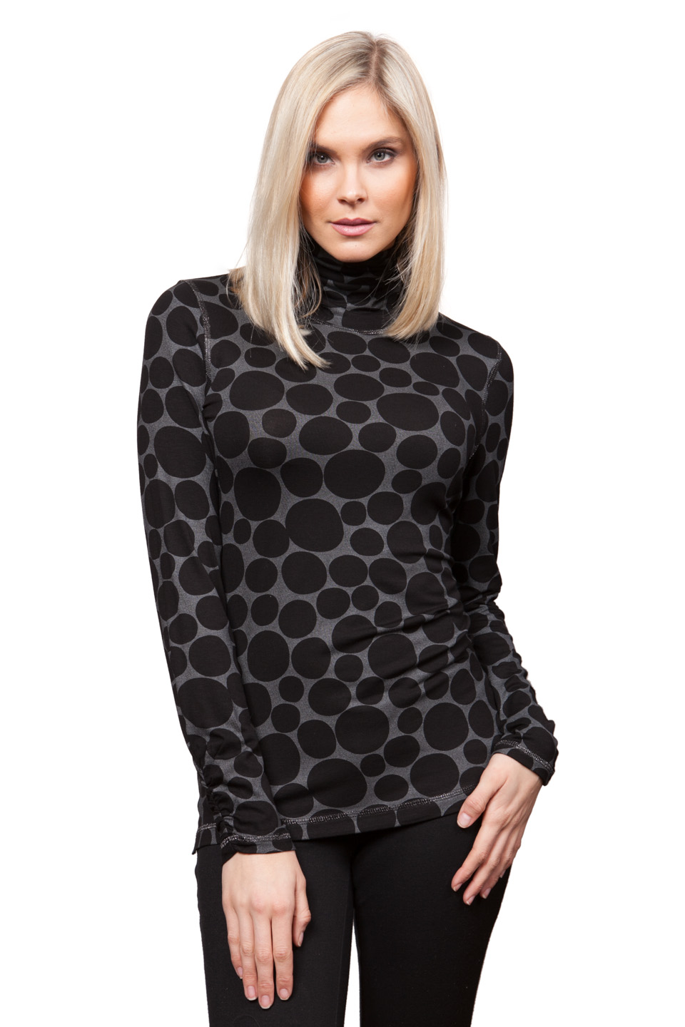 Copy of Style # 25217-16, p. 7<br>Dot Foil Print<br>Pattern: Dots