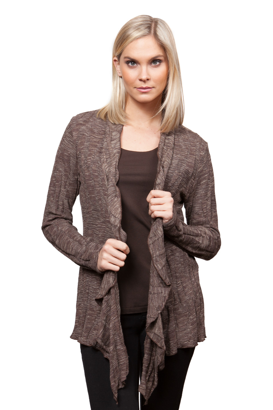 Copy of Style # 18248-16, p. 14<br>Space Dyed Jacq'd Knit<br>Color: Walnut, 2 colors<br>w/ Cashmerette Separates p. 7