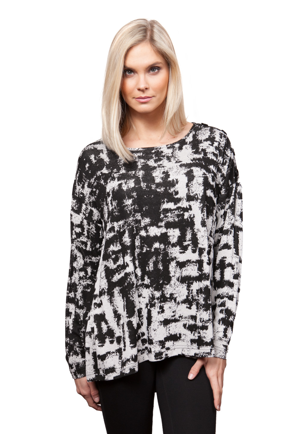Copy of Style # 28306-16, p. 5<br>Fine Gauge Sweater Knit<br>Color: Black/White<br>  &nbsp