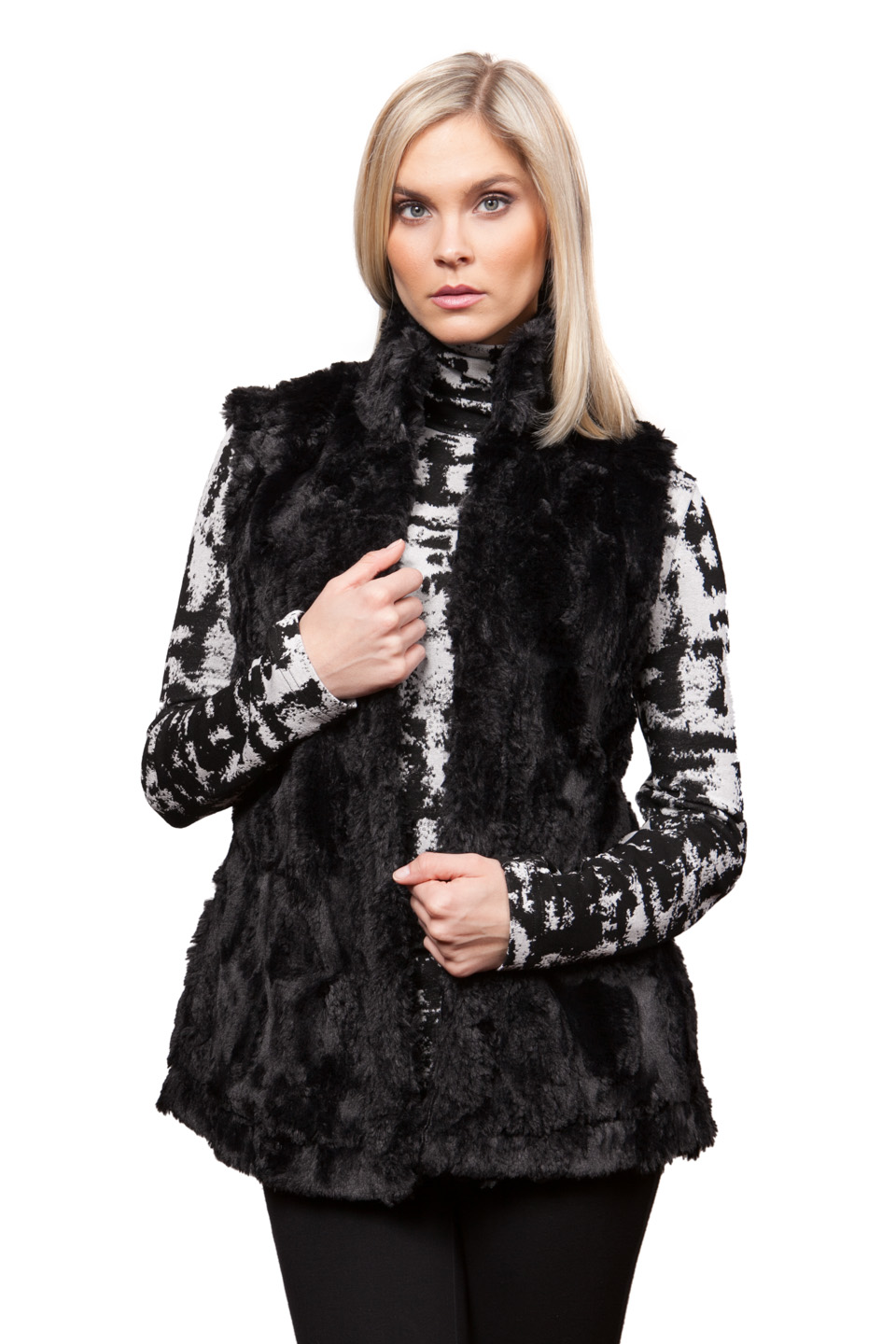 Copy of Style # 75279-16, p. 15<br>Faux Fur <br>Color: Black, 2 colors<br>w/ Cashmerette Separates p. 7