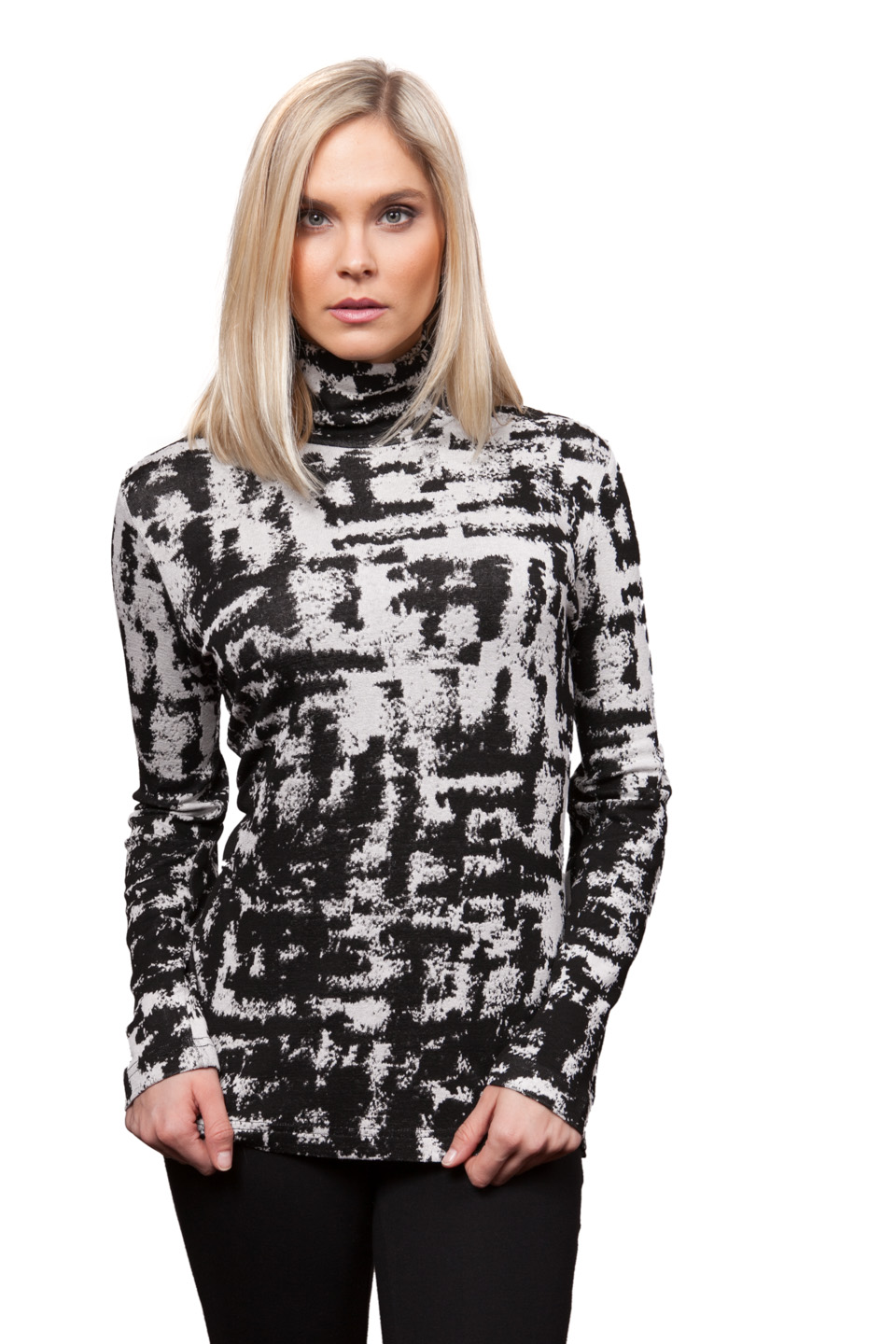 Copy of Style # 28933-16, p. 5<br>Fine Gauge Sweater Knit<br>Color: Black/White