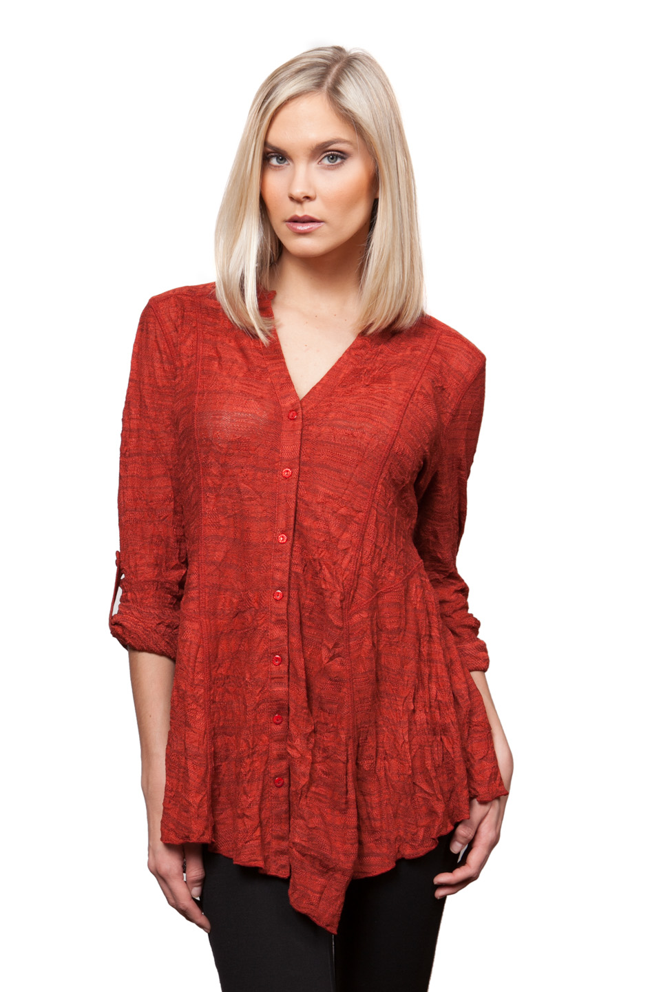 Copy of Style # 53308-16, p. 4<br>Tweedy Crinkle<br>Color: Spice, 4 colors