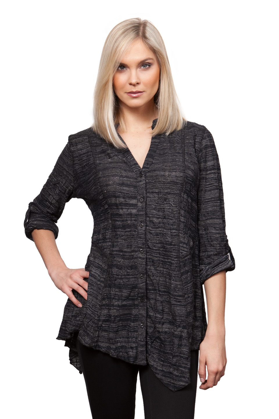 Copy of Style # 53308-16, p. 4<br>Tweedy Crinkle<br>Color: Gunmetal, 4 colors
