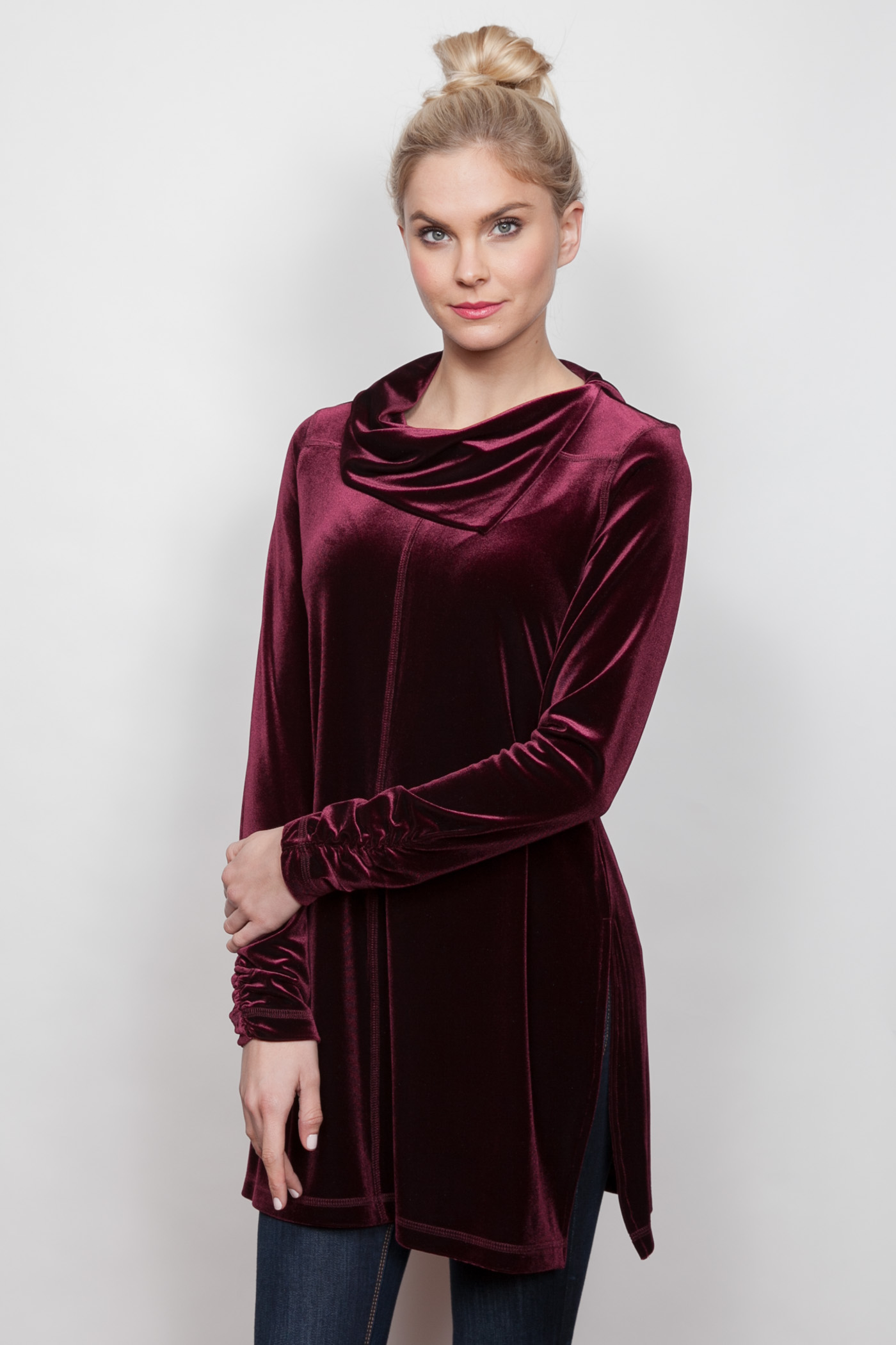 Copy of Style # 11447-18, p 13 </br>Plush Tech Velvet </br>Color: Merlot + 5 others