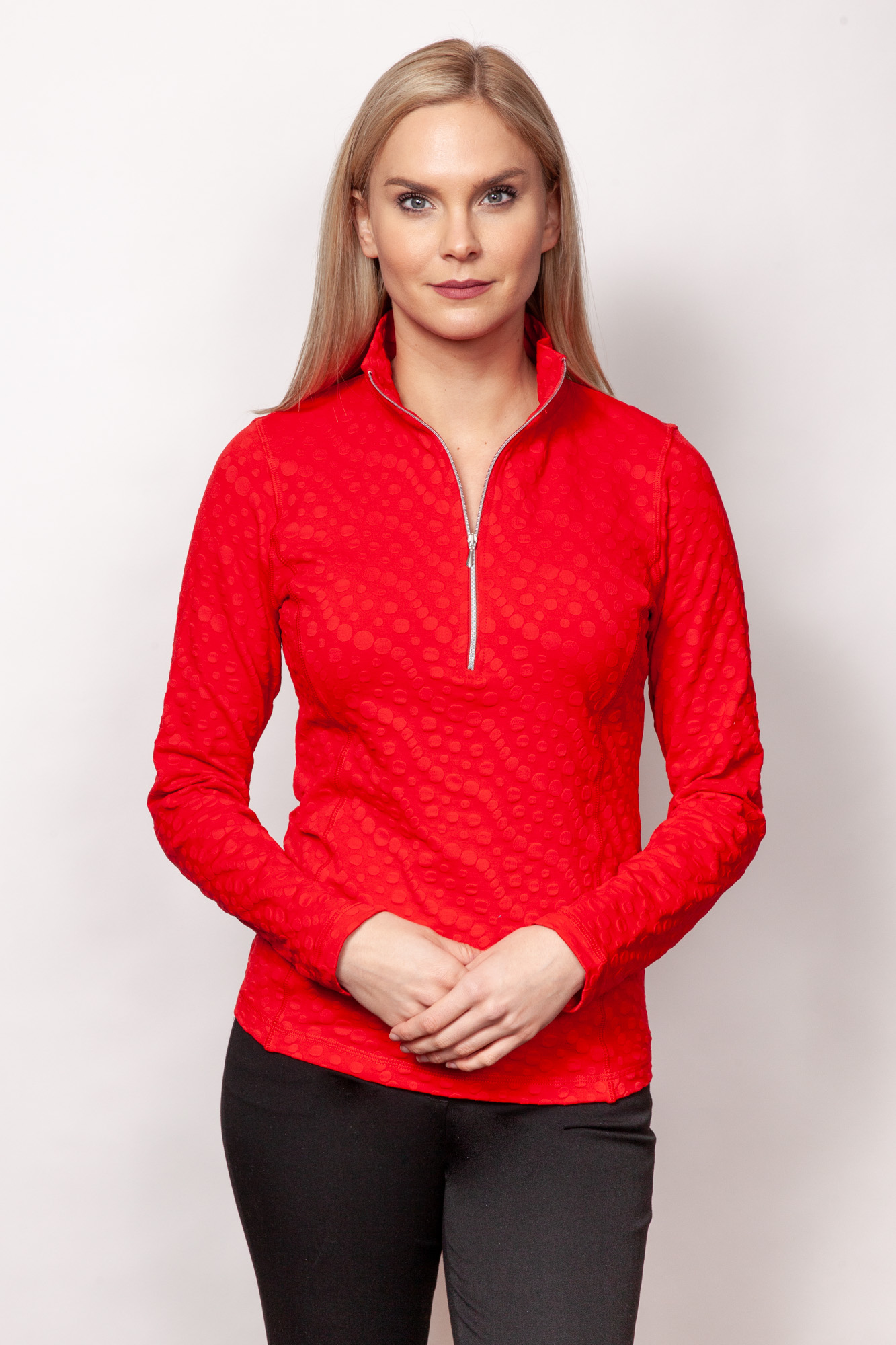 Copy of Style # 48738-19, p11 <br/>Dots Sport Jacq'd <br/>Colors: Cherry + 4 others