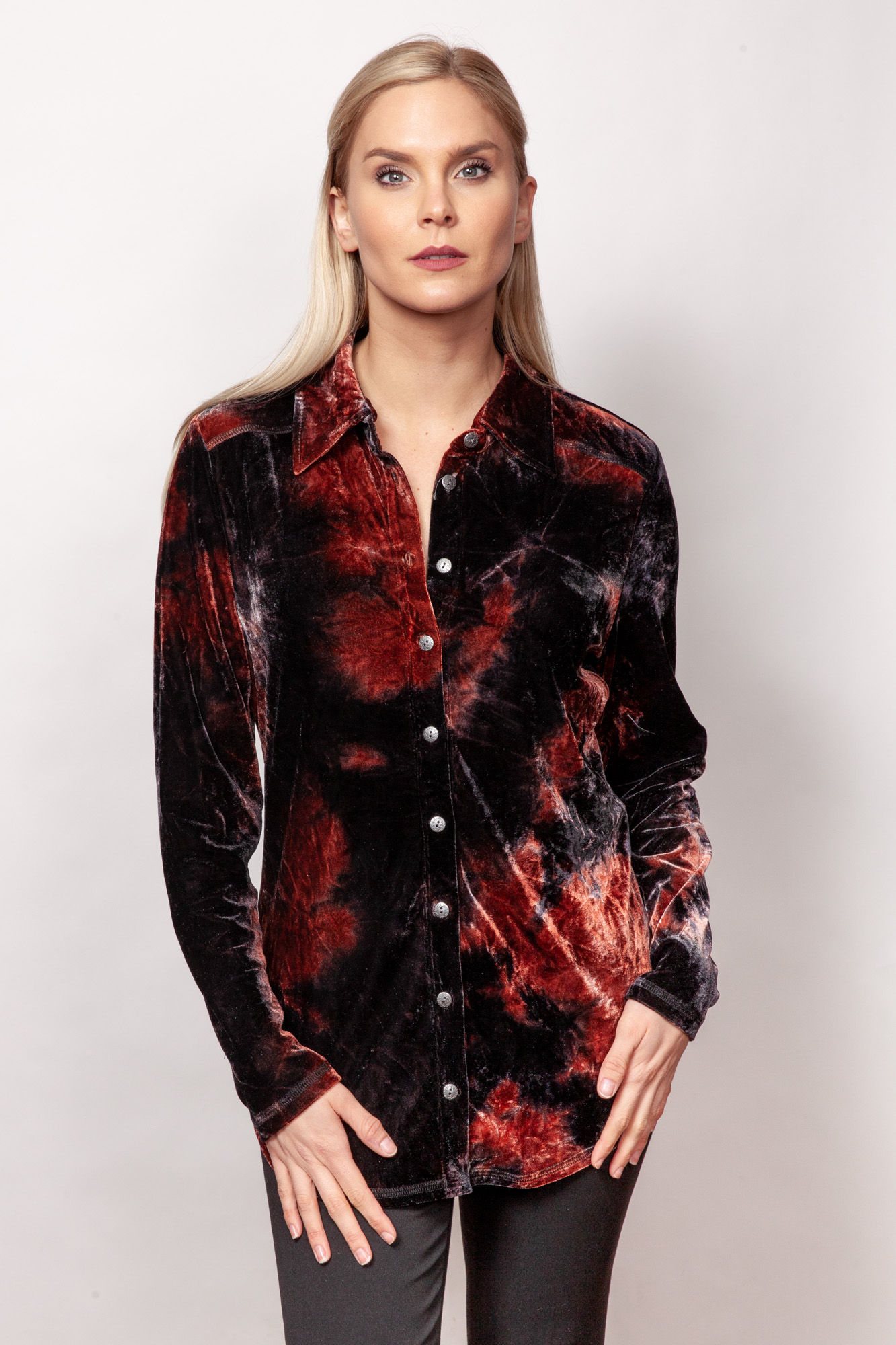 Copy of Style # 15379-19, p14 <br/>Printed Burnout Velvet <br/>Patterns: Terracotta + Midnight