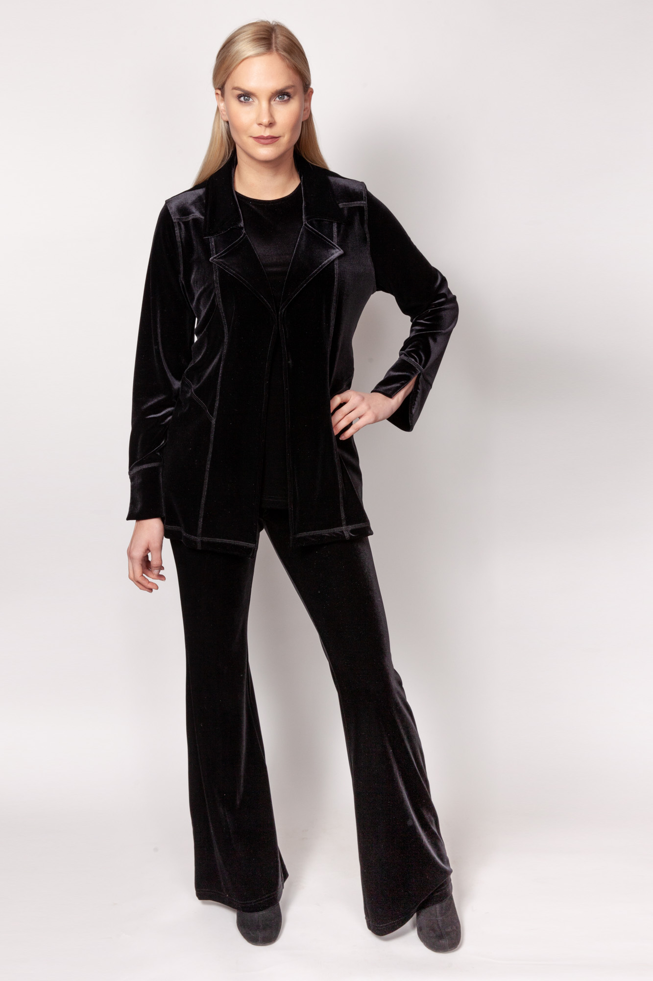 Copy of Style # 11499-19, p15 <br/>Pant 11288-19 <br/>PlushTech Velvet <br/>Colors: Black + 6 others