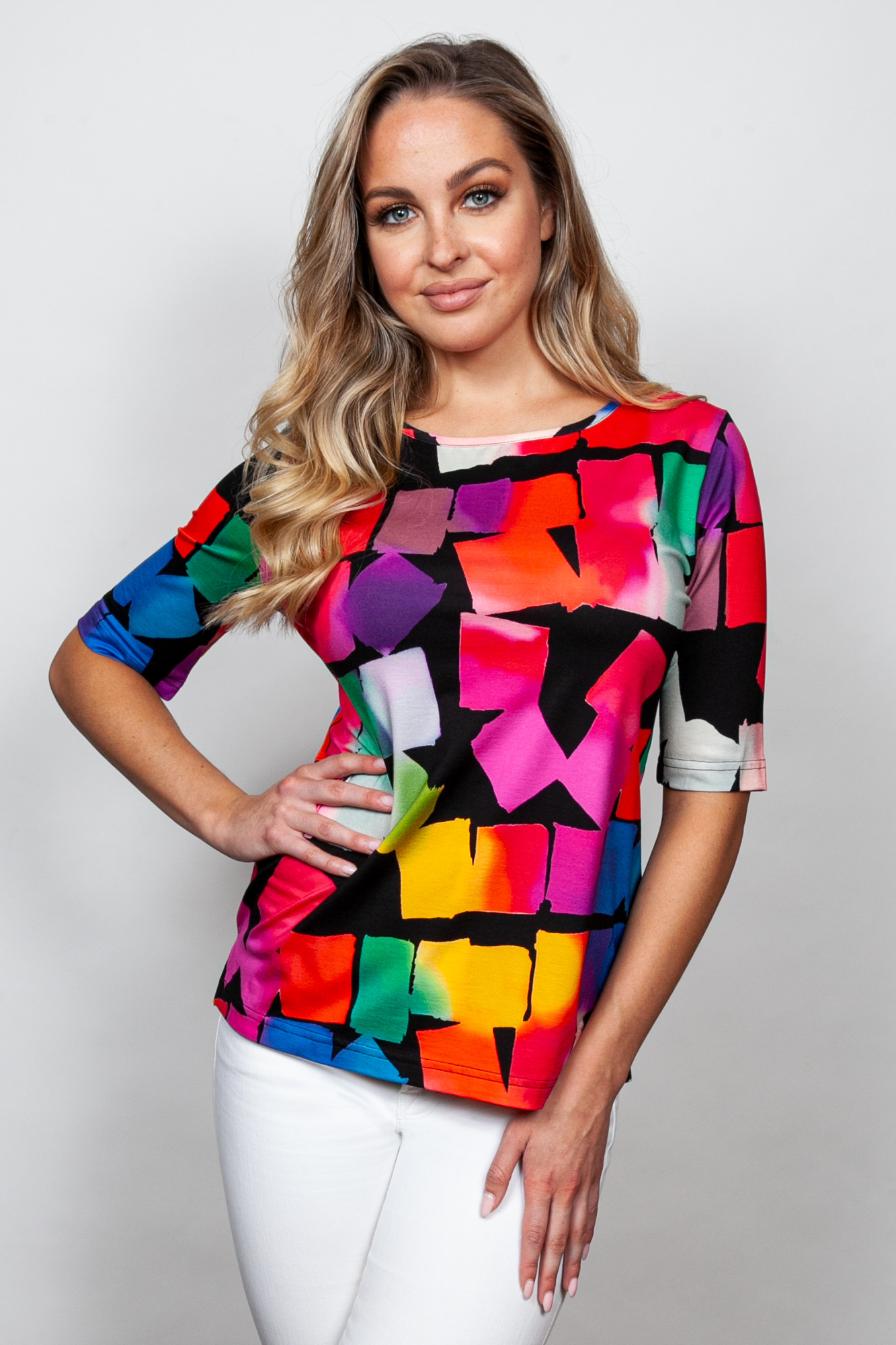 Style # 44224-20, p 7 Viscose Prints Print: Cubes + 5 others