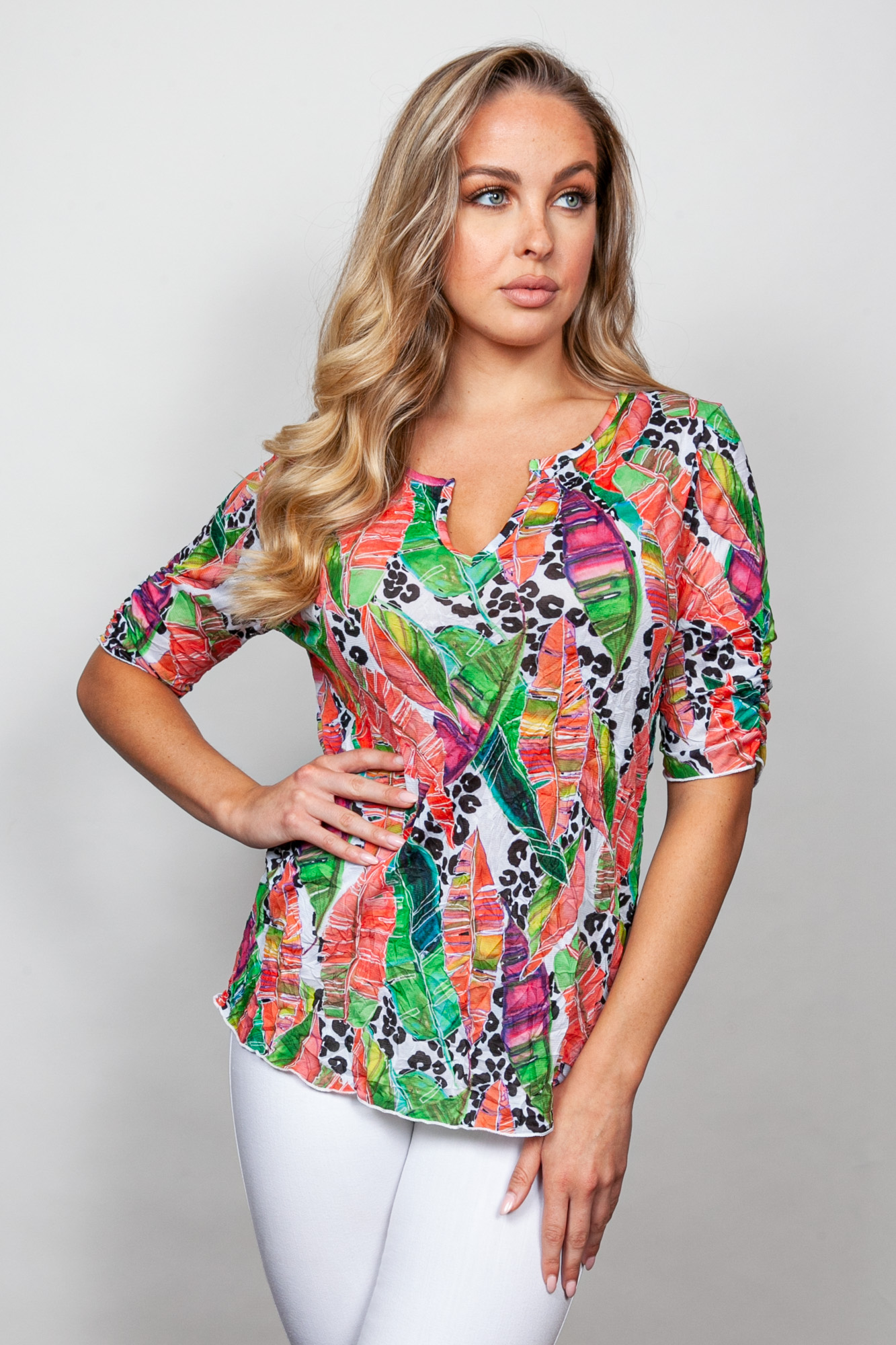 Style # 89519-20, p 1 Printed Crinkle Print: Jungle + 7 others