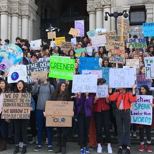 It was a brilliant turnout for Victoria, BC youth-led Strike For Climate today on Parliament. Thousands walked out of class earlier in the day to join the climate change protests.  With 16 year-old Swedish Nobel Peace Prize-nominated @gretathunberg as their role model, students are co-ordinating efforts with young people from around the world in an international strike to openly acknowledge what's taking place around the globe and to protest the way world leaders are responding to climate change.  This was not just a one-off protest. Things are really only getting started as students will strike to show their solidarity in support of a new, greener planet and a sustainable future the first Friday of every month.  Isn't it about time we started examining everything we do - our businesses included - in the context of our planet's current climate emergency?  @lisahelps #StrikeForClimate #YouthCimateStrike #ClimateEmergency #climateaction #yyj