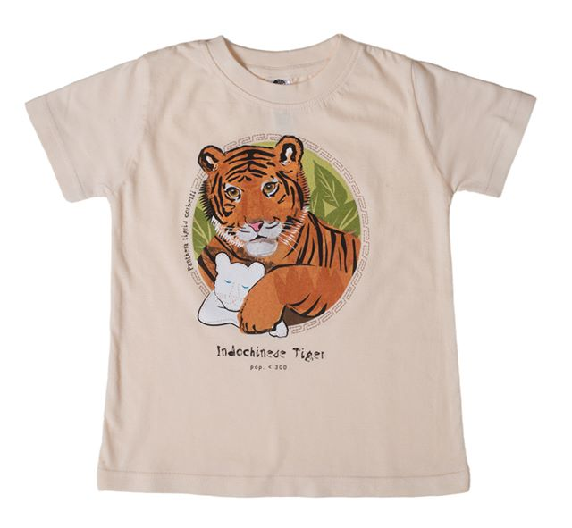 Support the extraordinary work of Panthera by purchasing a SpeeZees Indochinese Tiger t-shirt inNatural. Made from100% GOTS certified organic cotton, fairly-traded.  Available for young kids in sizes 2, 4 & 6.  SpeeZees kids tees are all about bringing awareness to species we love, one beautiful organic cotton kids t-shirt at a time.  SHOP for the t-shirt here: http://speezees.com/indochinese-tiger  And here's some more information about the Indochinese Tiger:  Scientific Name:Panthera tigris corbettiIUCN Status:EndangeredPopulation estimate:Less than 300 Region: Most individual Indochinese Tigers (around 100) live in Thailand along withMyanmar (Burma), Thailand, Laos, Cambodia, Vietnam and southwestern China.Habitat: The Indochinese Tiger is found mostly in secluded lowland and highland tropical deciduous, semi-evergreen and evergreen forests in hilly to mountainous terrain, largely along the borders between countries.Greatest threats to its continuation: All populations of Indochinese Tiger are at extreme risk from poaching, prey depletion due to poaching of deer and wild pigs, habitat fragmentation and inbreeding. Rapid development and deforestation is fragmenting habitats and forcing these tigers into scattered, small refuges.  #sustainable#ecofashion #tshirts#kidstshirts #ethicalfashion#ecofashionworld#minimaven#ministyle#kidsstyle #kidsfashion#organic#organiccotton #conservation#kids#kidsclothing#tshirts #speciesatrisk#endangeredanimals#IUCN#organiccotton#organic#fashion #sustainable#ecofashionworld#tigers#speciesatrisk #speciespreservation#wildlife