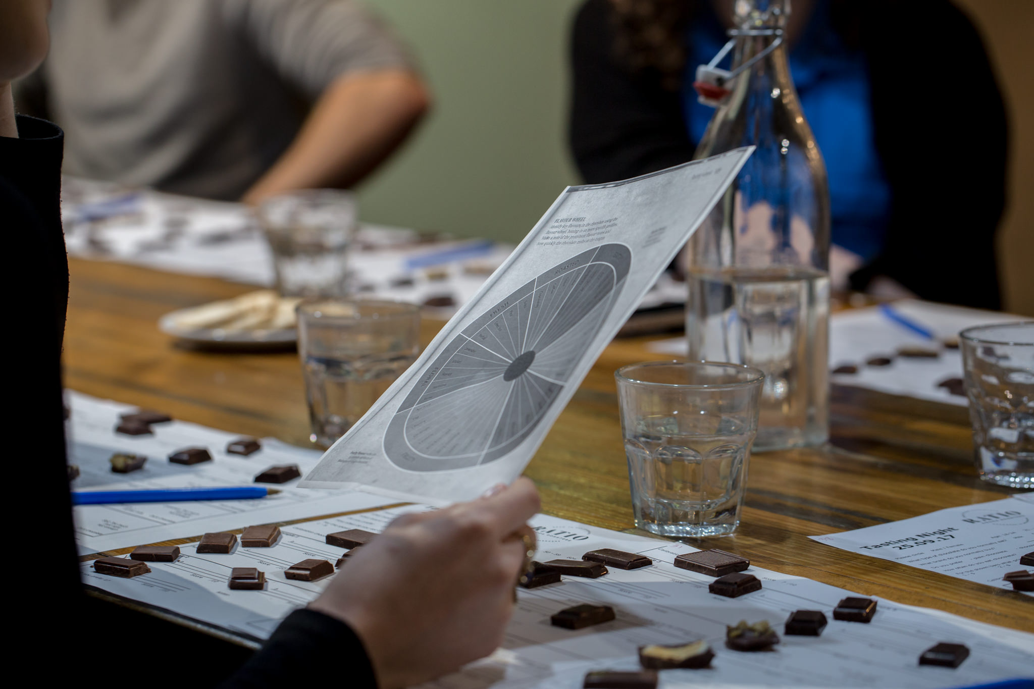 The TOCT team tasting chocolate from all corners fo the globe.
