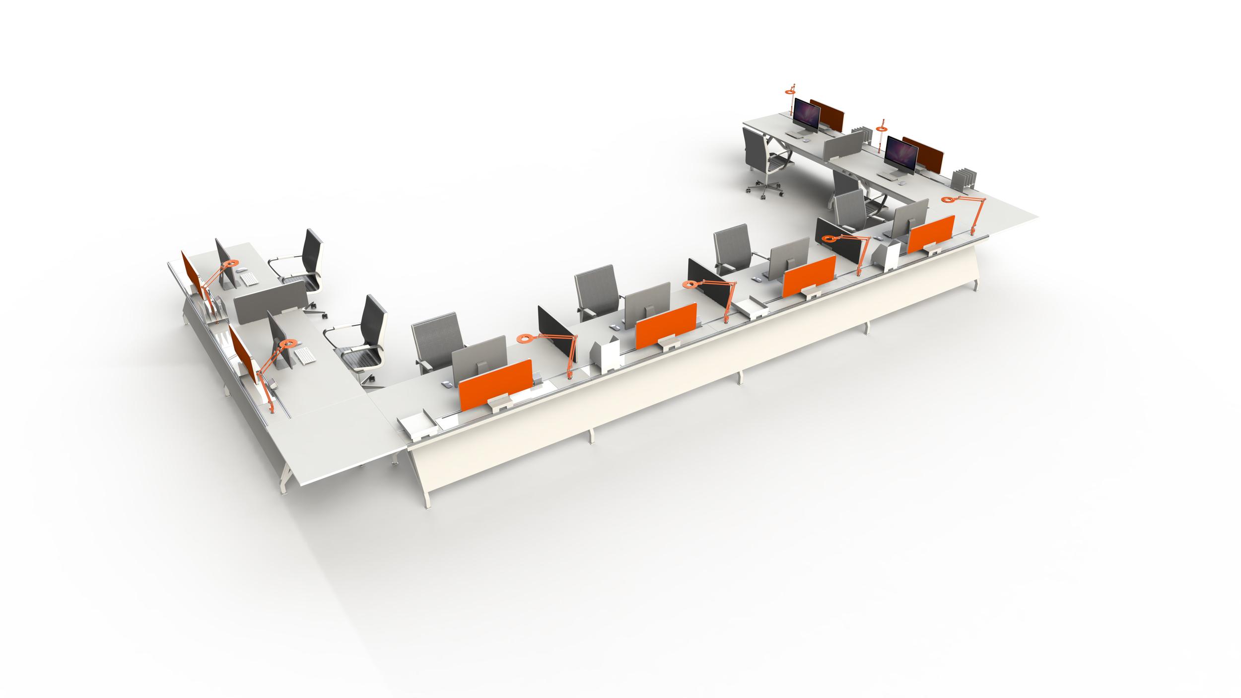 8 Single EYHOV Desks