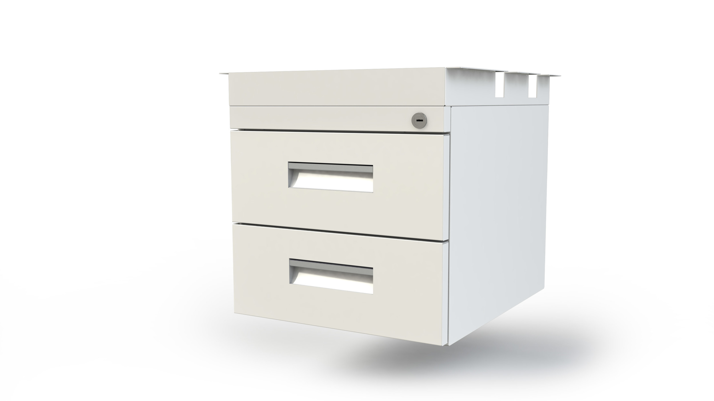 Personal lockable double Box Drawer Unit Mounts under desk