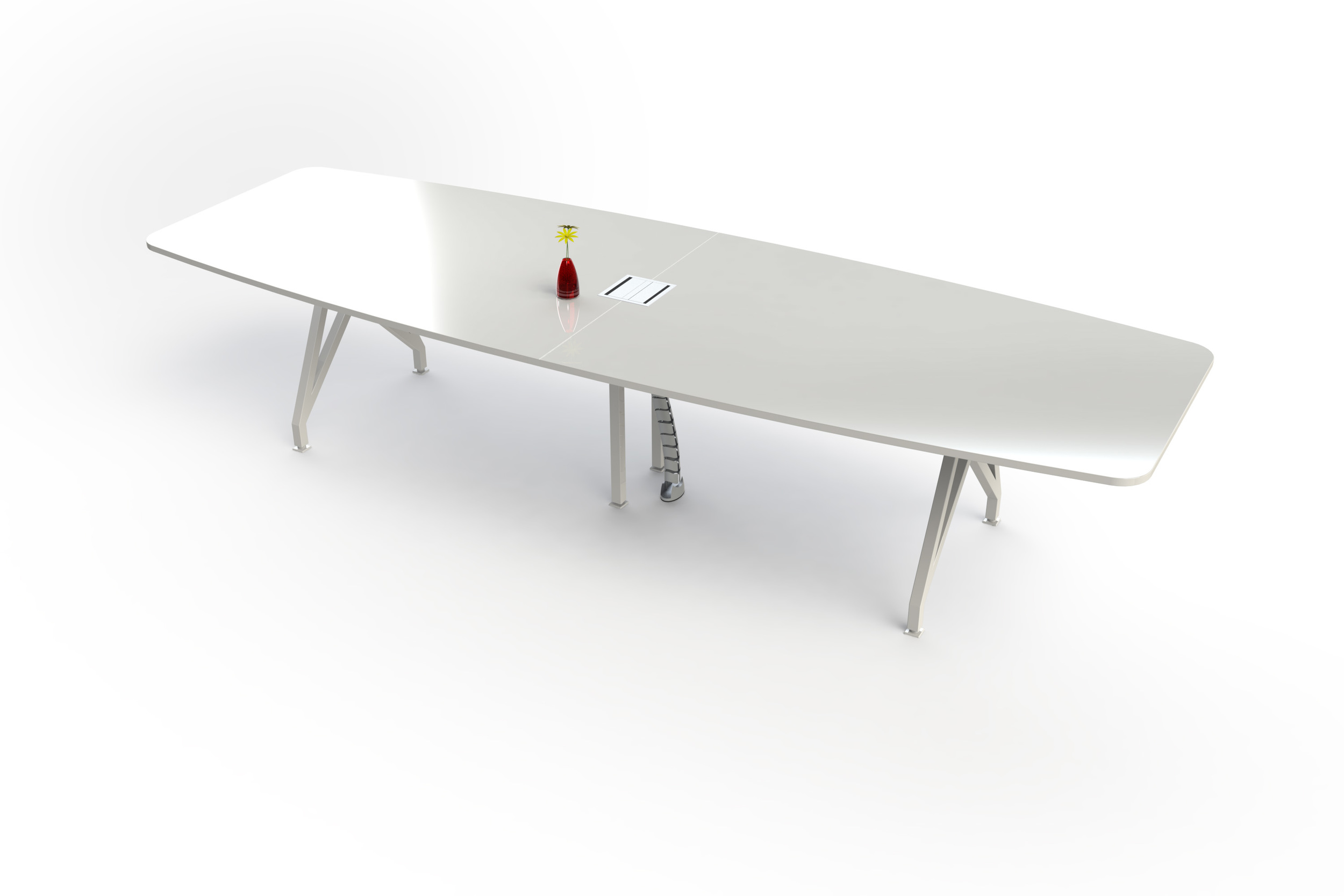 Kayak Conference Table Silver