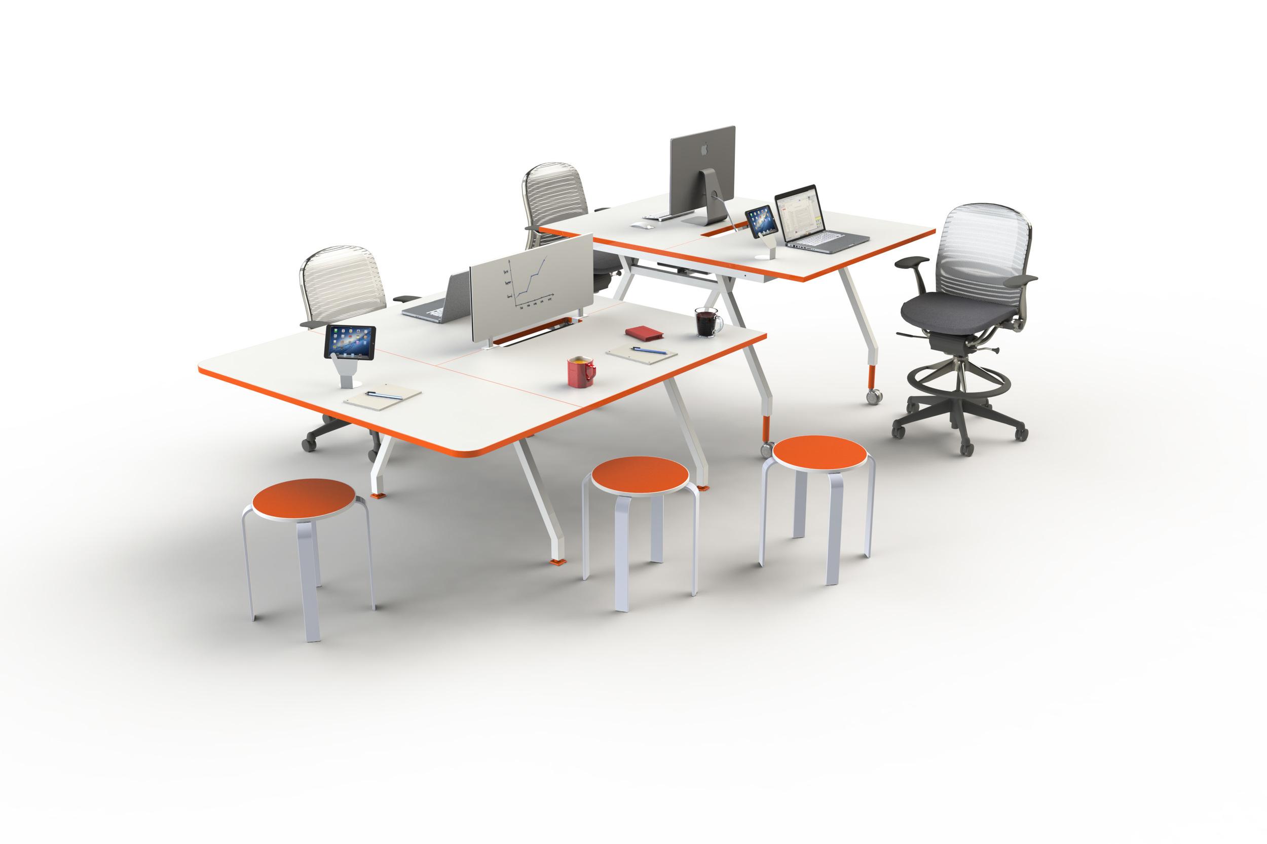 G Series Double Desks Workstations