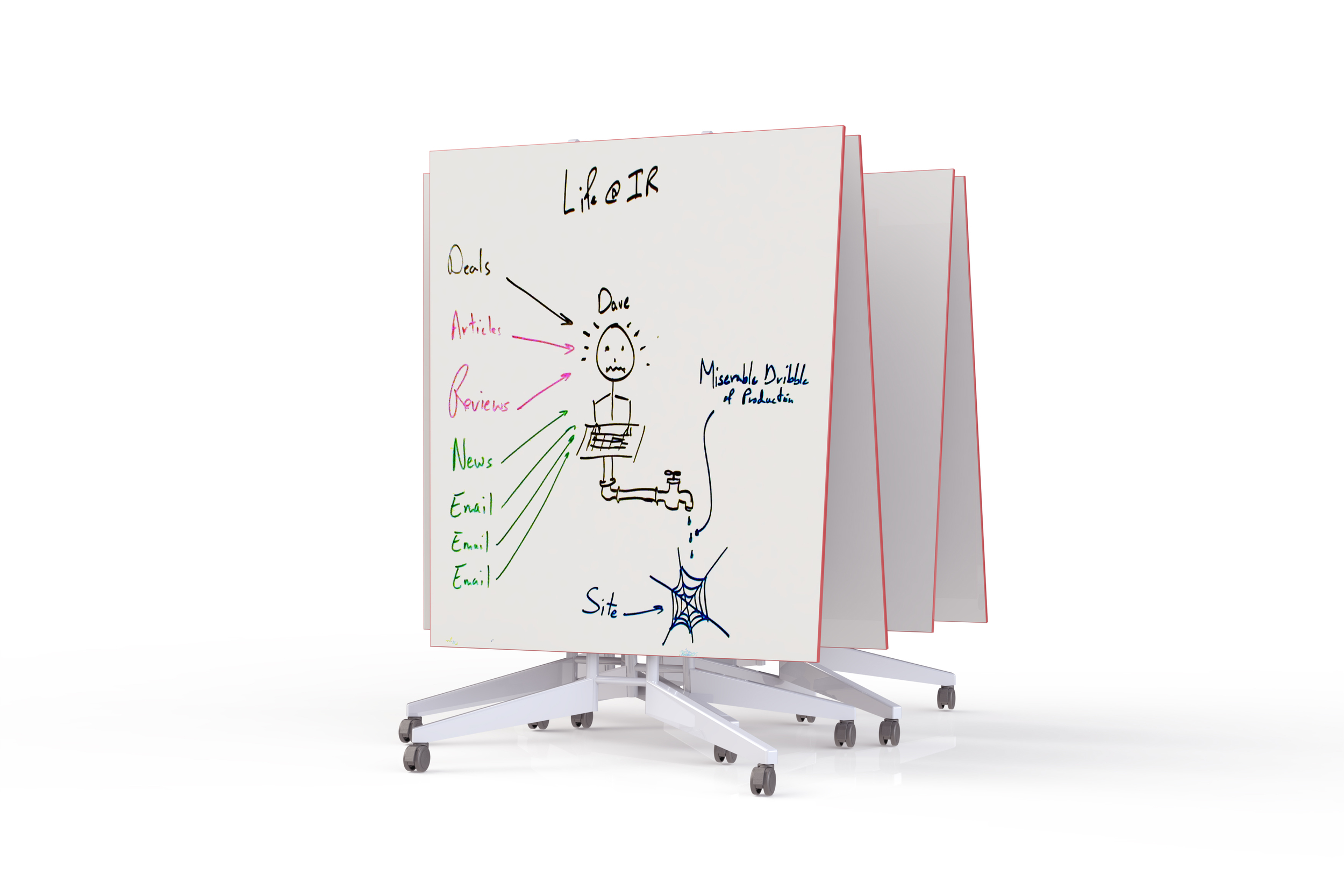NOMAD 12' conference table dry erase whiteboard
