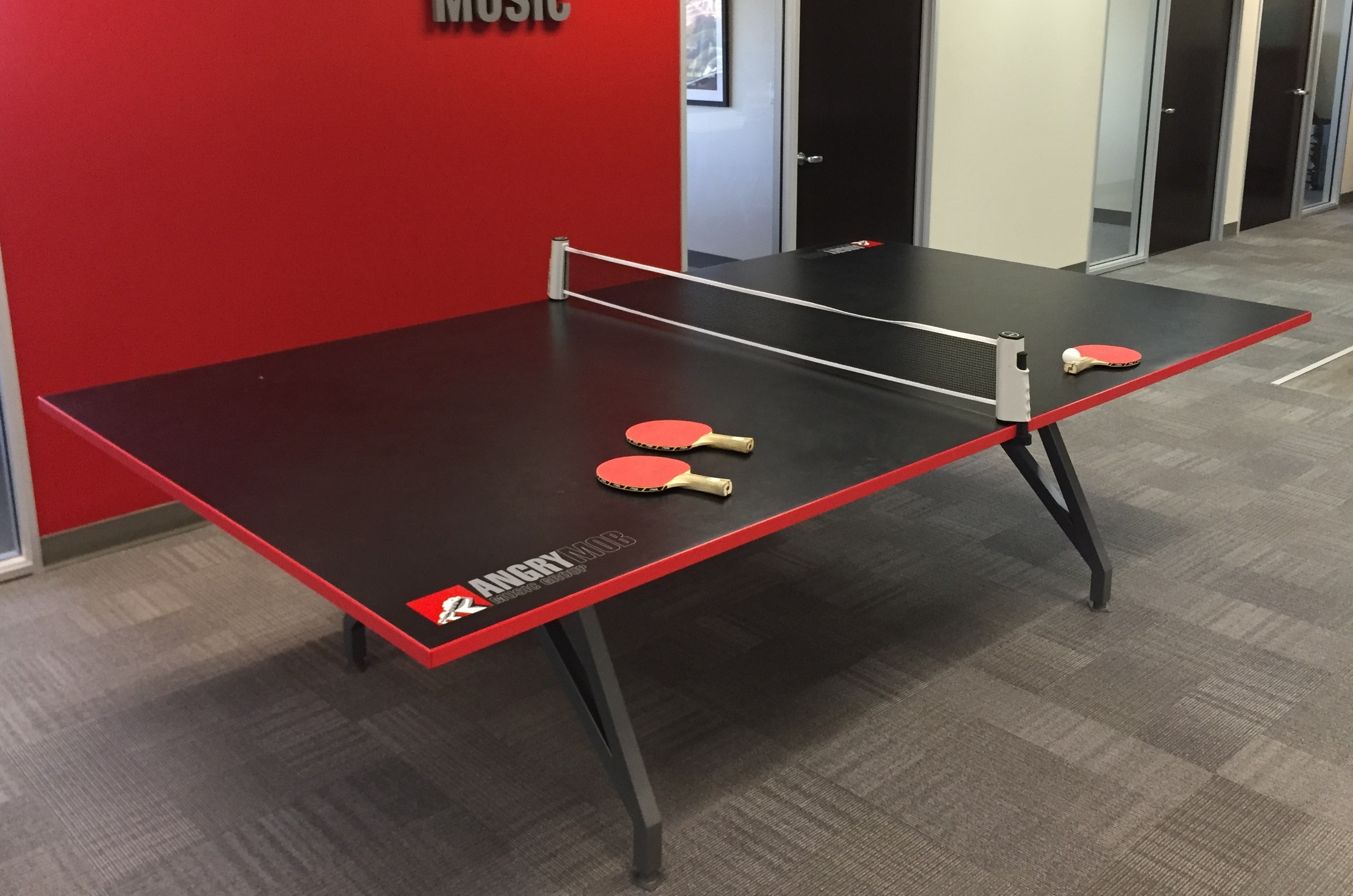 EYHOV Sport Folding Conference Mobile Black Ping Pong Table