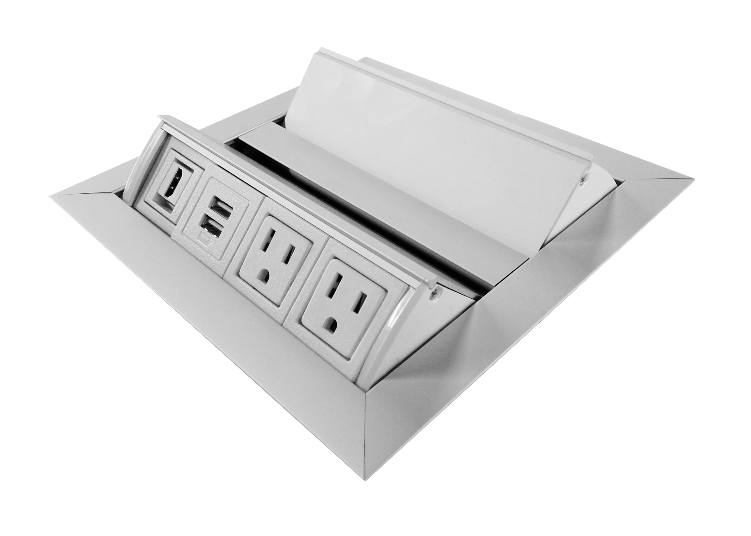 Conference table power units add USB, Audio/Video, data and more.