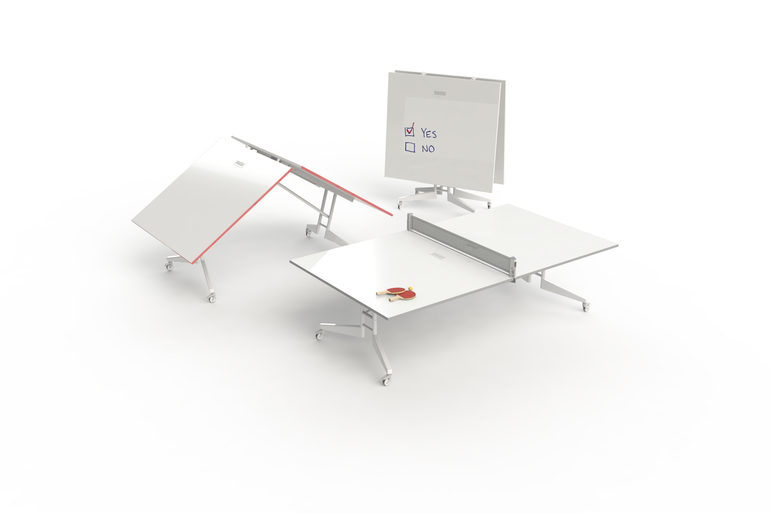 NOMAD Sport Folding Conference Table Mobile White Board Ping Pong