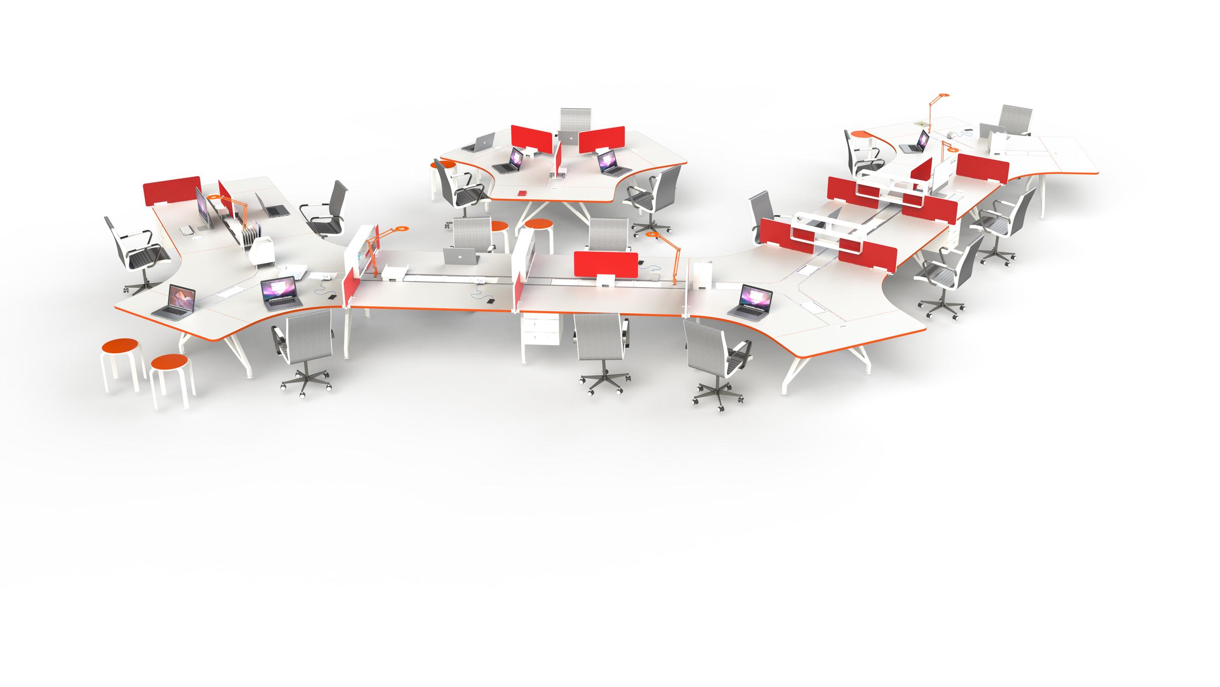 EYHOV Hub 120 Desk Workstations