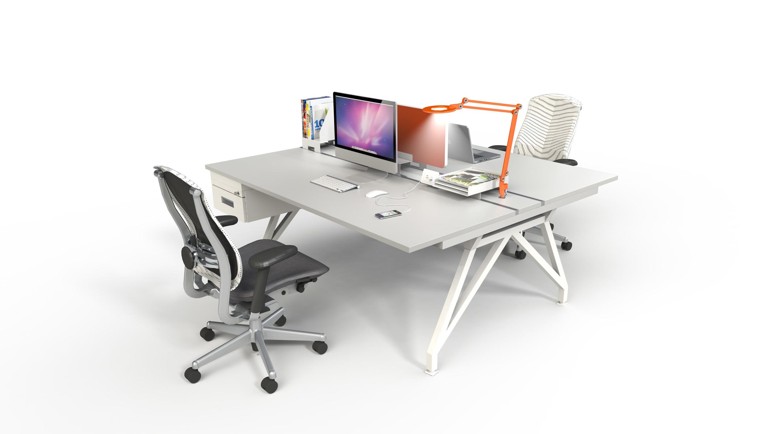 EYHOV Double Desk Workstation