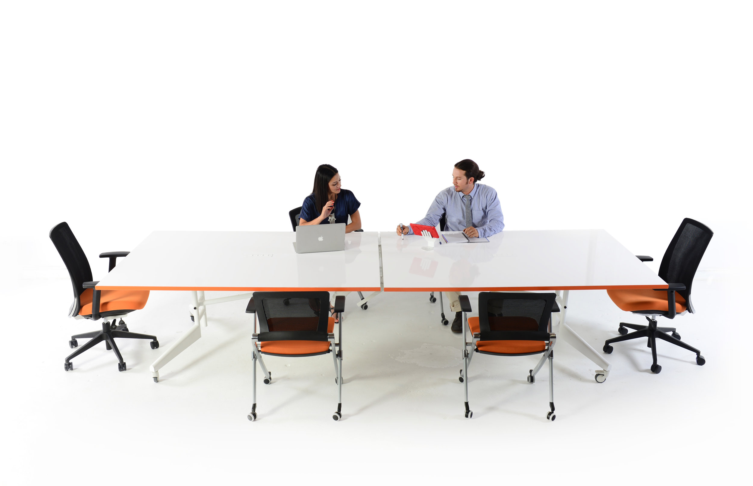 Folding Conference Table Mobile White Board Dry Erase