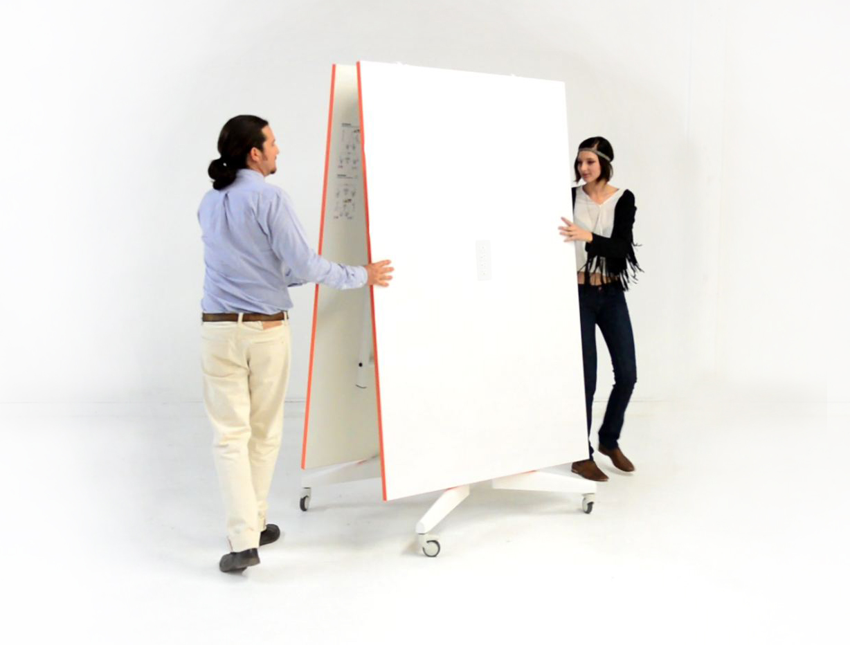 Folding Conference NOMAD 12' Table Mobile White Board Dry Erase