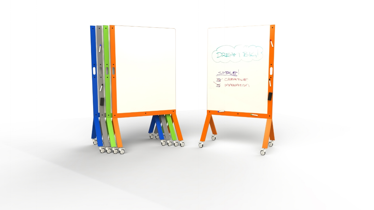 MARC, the Mobile Marker White Board with Handle Color Variations