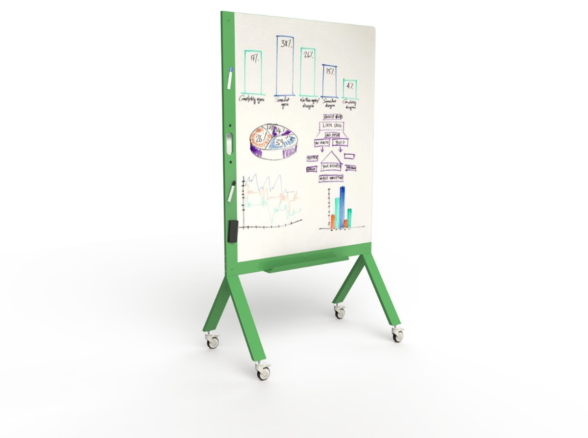 MARC, the Mobile Marker White Board with Handle Green