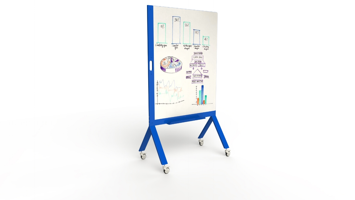 MARC, the Mobile Marker White Board with Handle Blue