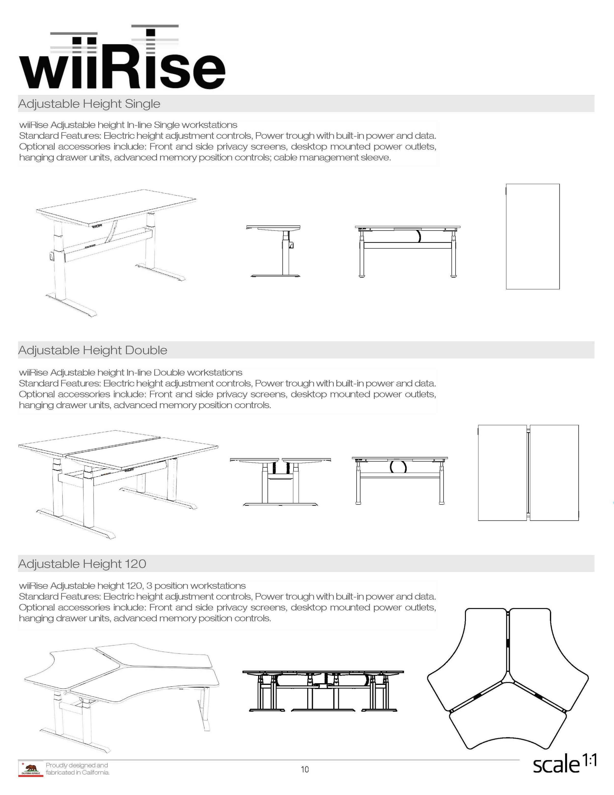 wiiRise Height Adjustable Desks Documentation