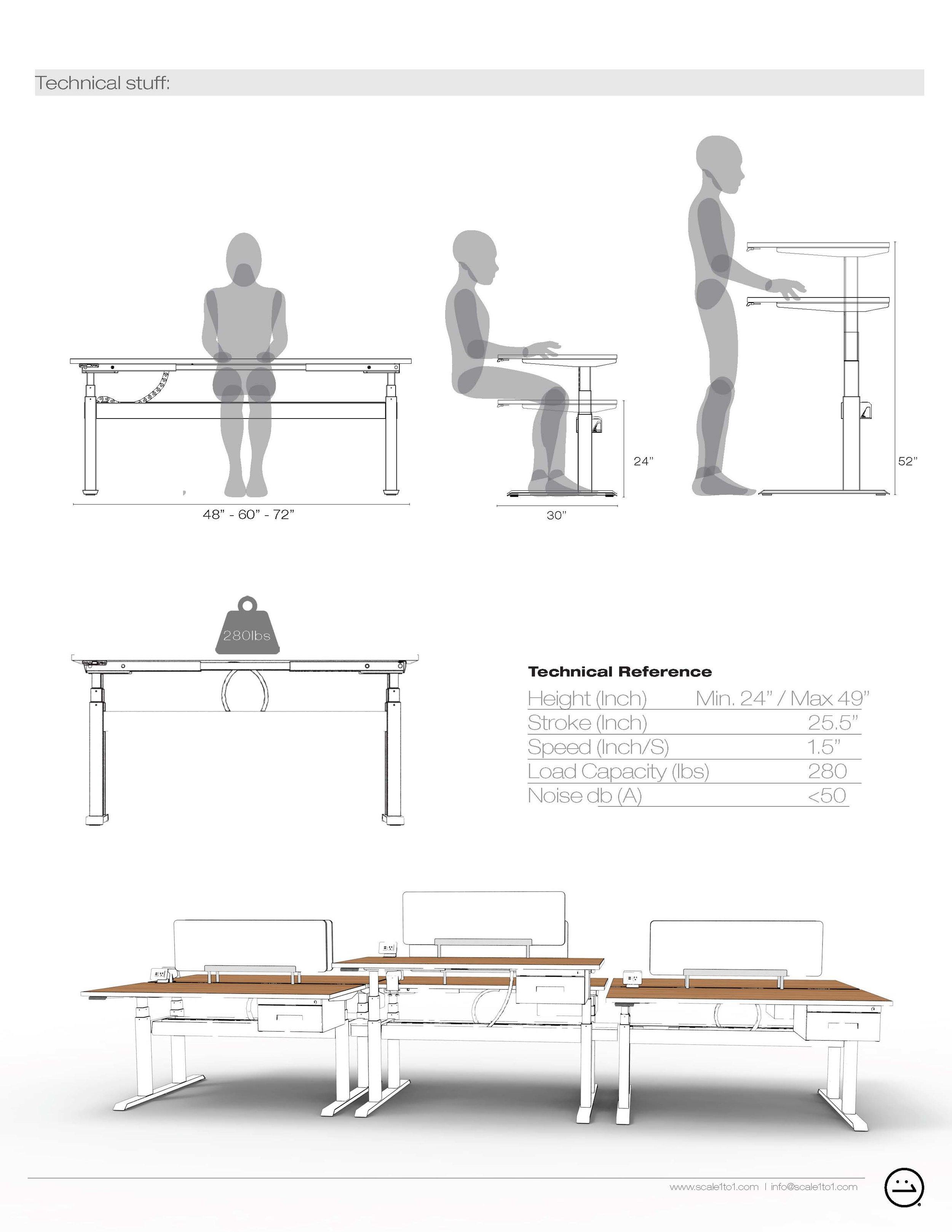 wiiRise Height Adjustable Desks Documentation Tech Specs