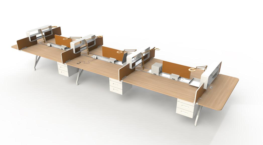 EYHOV Rail Double Desk Workstations