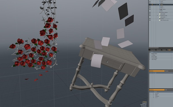 Modelling of the CG elements in Modo.