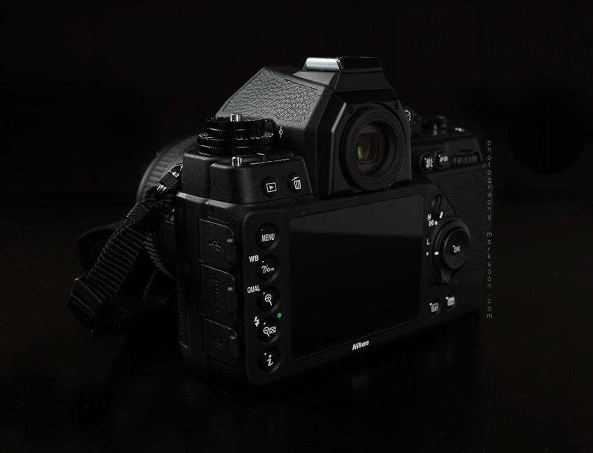 Nikon DF viewfinder closeup