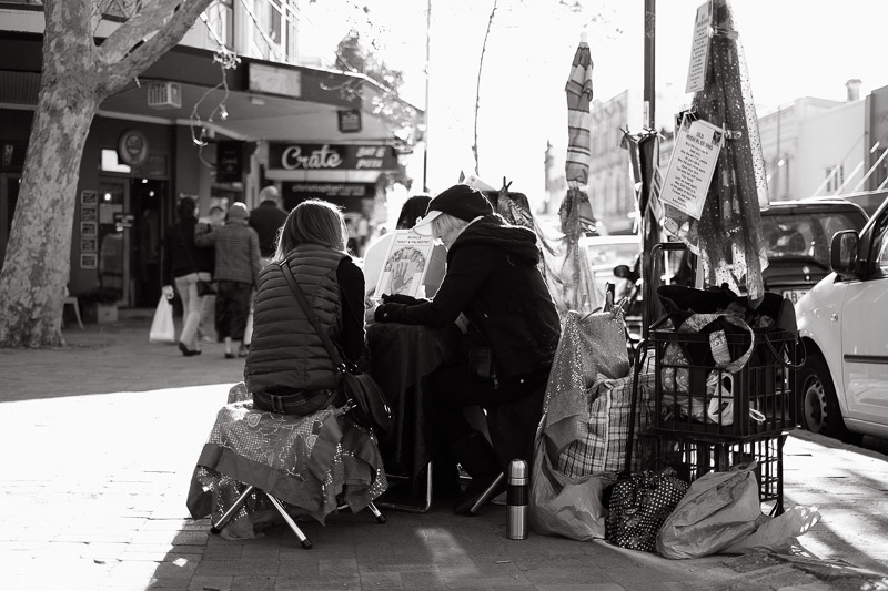 Tarot reading at Paddington Markets, Sydney