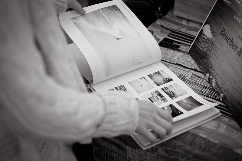 Photo books on sale at Paddington Markets