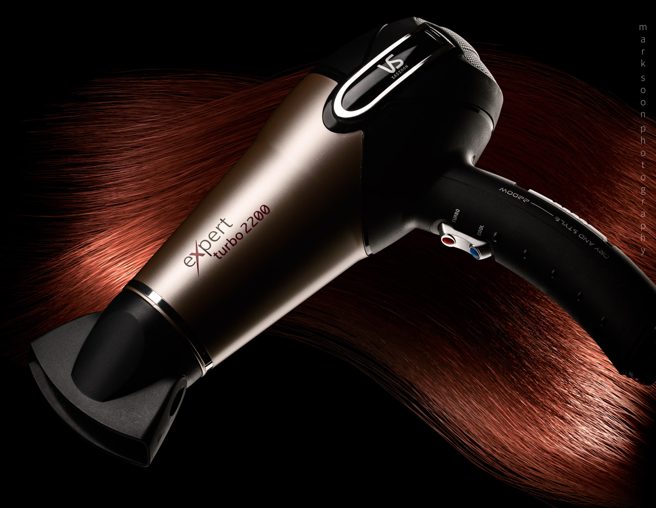 Hair dryer product photo