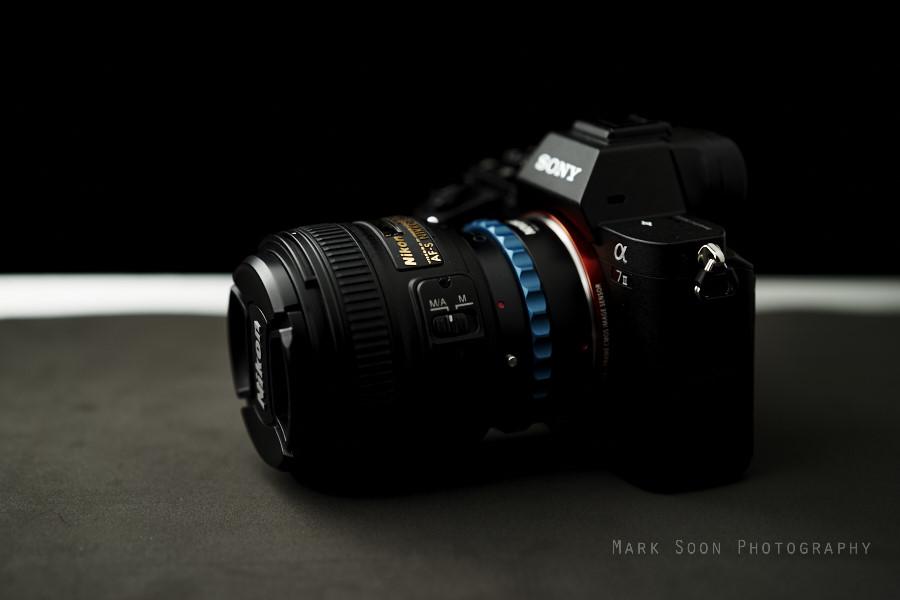 Sony A7II with the Nikon 50mm 1.8G via the Novoflex mount