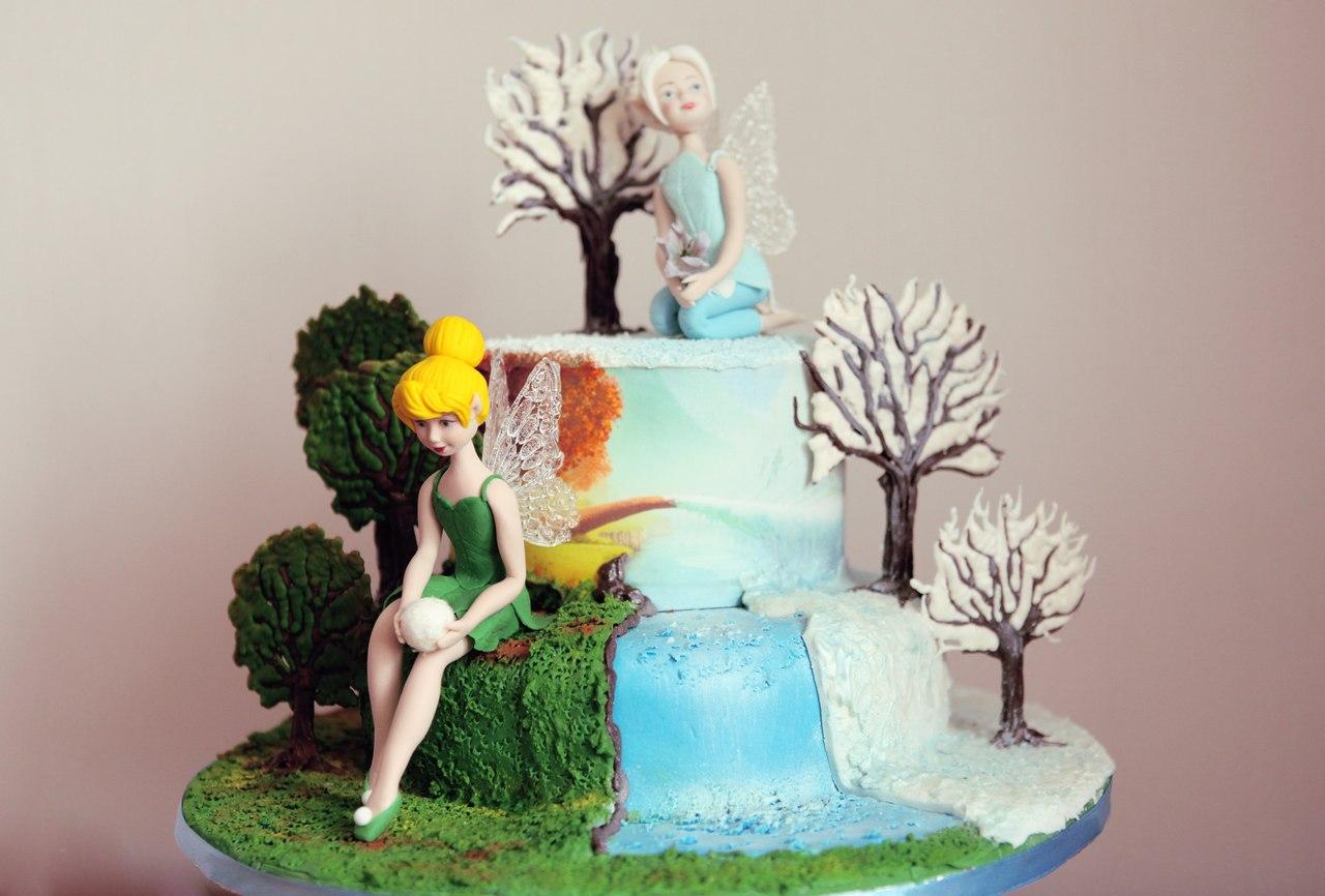 Торт с феями для девочки