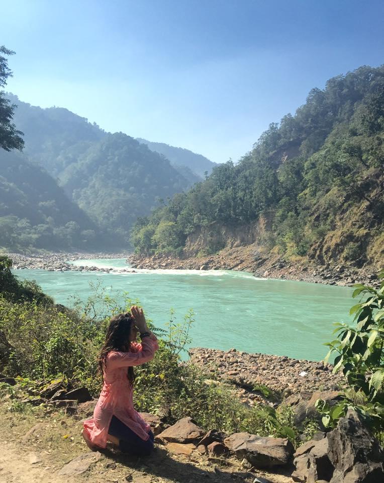 At the Ganga River. North Rishikesh, India.