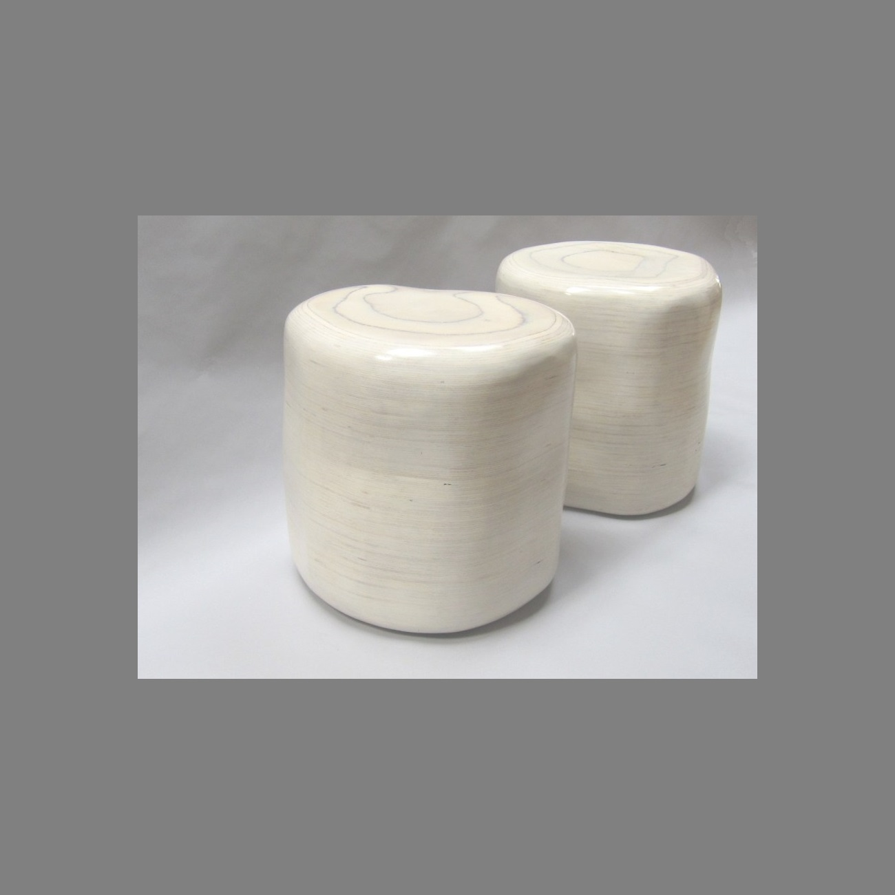 river rock stools on casters