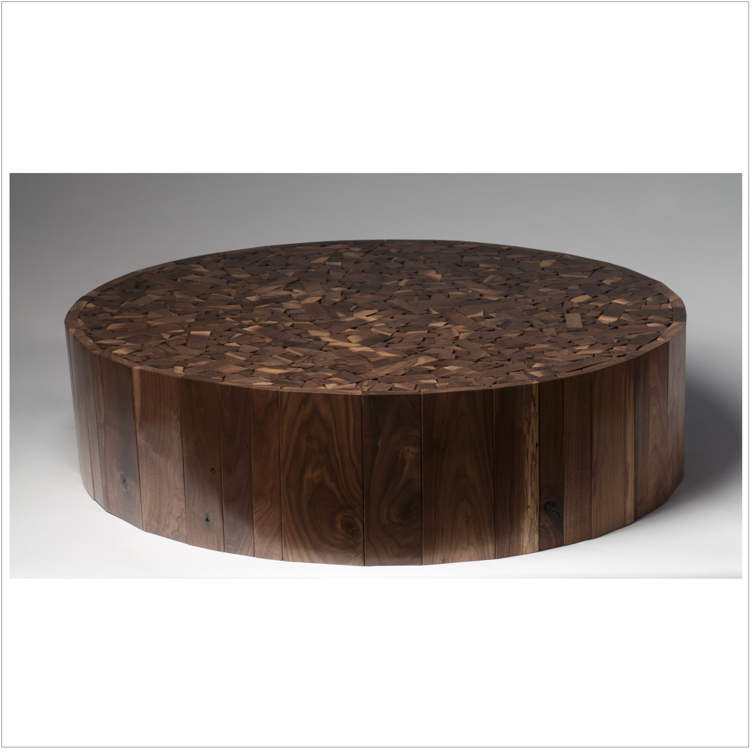 walnut puzzle top cocktail table