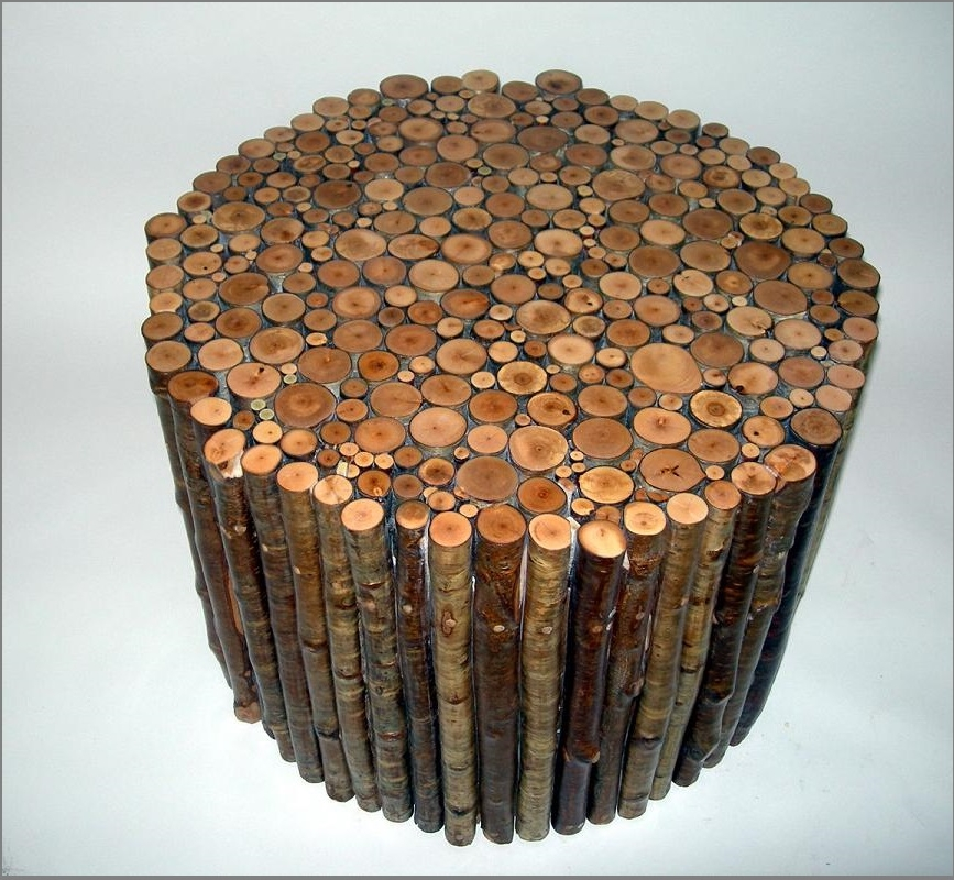yellow birch end table