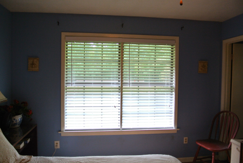 The new faux wood blinds