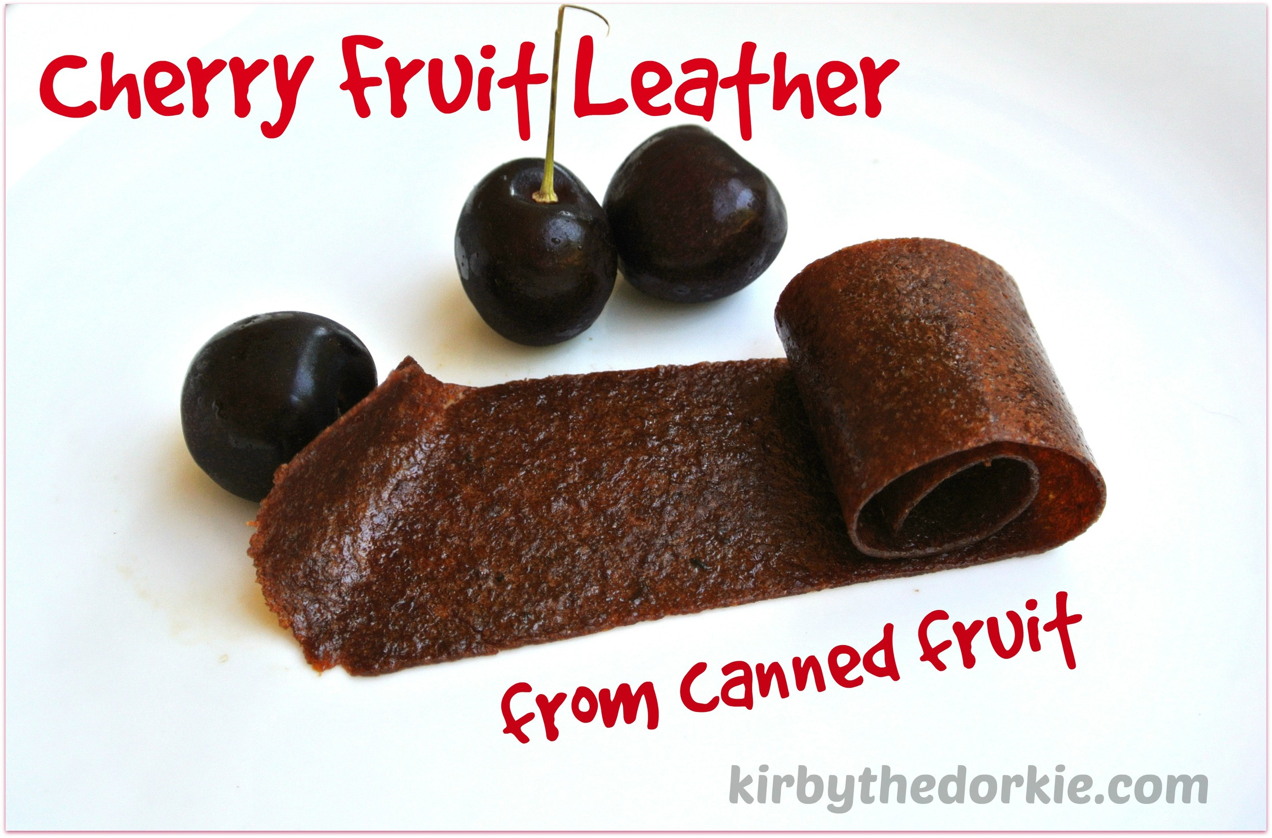 cherry fruit leather from a can