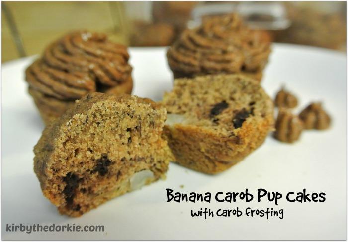 Banana Carob Pupcakes